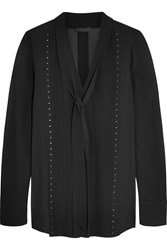 Belstaff Walton Studded Silk Georgette Blouse Black