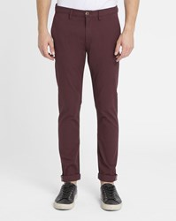 Ben Sherman Burgundy Slim Chinos