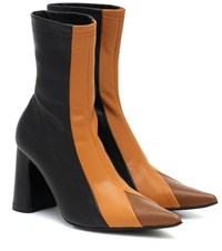 Ellery Helga Leather Ankle Boots Black