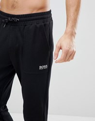 Boss By Hugo Contemporary Joggers With Cuffed Ankle In Regular Fit Black