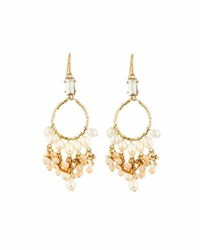 Lydell Nyc Shaky Pearl Hoop Drop Earrings Multi