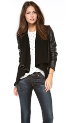 Blank Vegan Leather And Ponte Jacket Private Practice