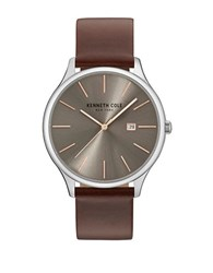 Kenneth Cole Classic Stainless Steel Analog Watch Brown