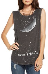 Women's Chaser 'Moon And Stars' Graphic Muscle Tee