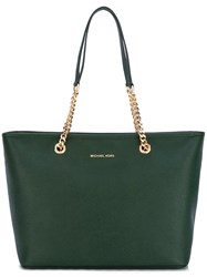 Michael Michael Kors 'Jet Set' Chain Tote Green