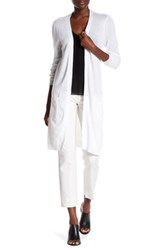 Joseph A Pointelle Duster Cardigan White
