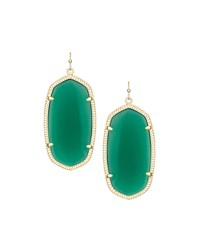 Danielle Earrings Green Onyx Kendra Scott
