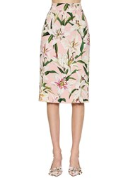 Dolce And Gabbana Printed Cady Stretch Pencil Skirt Array 0X5758f90