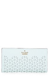 Kate Spade Women's New York Cameron Street Stacy Perforated Leather Wallet Blue Island Waters
