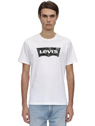 Levi's Housemark Graphic Cotton Jersey T Shirt White