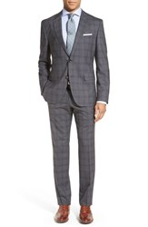 Men's Boss 'Johnstons Lenon' Trim Fit Plaid Wool Suit