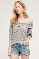 Anthropologie Gatienne Top Light Grey