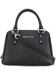 Armani Jeans Top Handle Crossbody Bag Women Polyurethane One Size Black