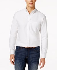 Club Room Hilliard Classic Oxford Shirt Only At Macy's Bright Whi
