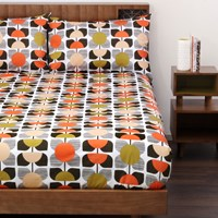 Orla Kiely Square Flower Duvet Cover Coral Single