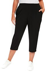 Evans Plus Size Tapered Crop Pants Black