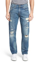 True Religion Men's Brand Jeans Geno Distressed Straight Leg Jeans