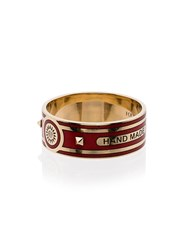 Foundrae 18K Yellow Gold Red Sun Wide Diamond Ring