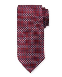 Neiman Marcus Boxed Neat Silk Tie Red