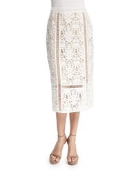 Bailey 44 Silver Springs Lace Midi Skirt Cream Ivory