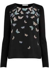 Oasis Princes Butterfly Blouse Black