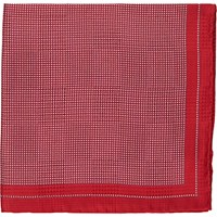 Fairfax Men's Micro Dot Silk Pocket Square Red