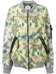 Marna Ro Floral Bomber Jacket Women Cotton Polyester Other Fibres S Yellow Orange