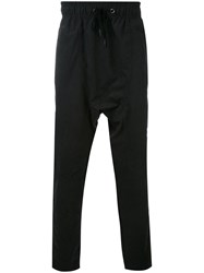 Tom Rebl Loose Fit Trousers Men Cotton Polyamide Polyester 50 Black