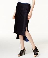 Dkny Reversible High Low Midi Skirt Black