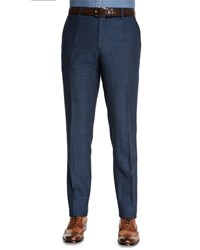 Etro Herringbone Flat Front Pants Blue Women's