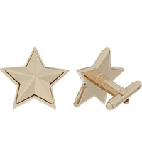 Givenchy Star Cufflinks Pale Gold