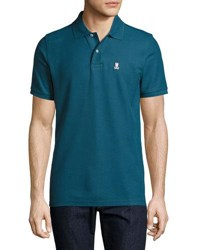 Psycho Bunny Classic Cotton Polo Shirt Medium Blue