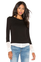 Bailey 44 I'm So Excited Sweater Knit Blouse Black