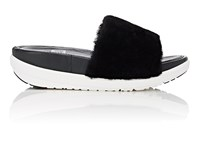 Fitflop Limited Edition Women's Shearling Slide Sandals Black
