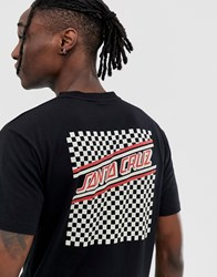 Santa Cruz Check Strip Hue T Shirt In Black