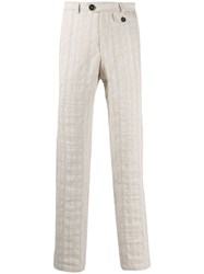 Oliver Spencer Fishtail Trousers Neutrals