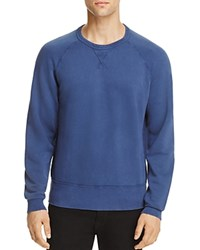 7 For All Mankind Reverse Terry Side Panel Sweatshirt Washed Navy