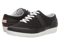 Hunter Original Sneaker Lo Canvas Black White Women's Shoes