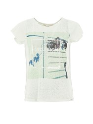 Garcia Sheer Printed T Shirt Green