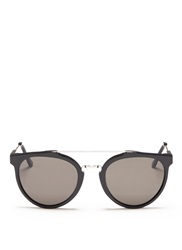 Super 'Giaguaro' Double Bridge Acetate Cat Eye Sunglasses