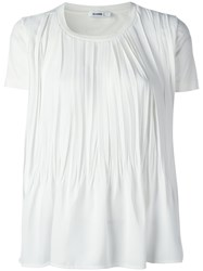 Jil Sander Draped T Shirt White
