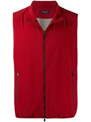 Loro Piana Classic Gilet Jacket Red