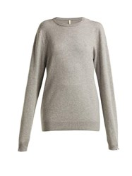 Extreme Cashmere No.36 Classic Cashmere Blend Sweater Grey