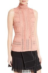Cinq A Sept Women's 'Antonia' Sleeveless Lace Turtleneck Bloom
