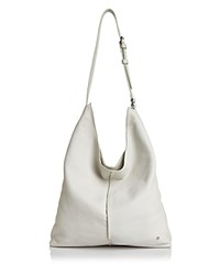 Halston Heritage Tina North South Leather Shoulder Bag Chalk