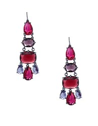 Lauren Ralph Lauren Hematite Chandelier Earrings Red