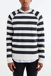 Cpo Hawthorne Striped Crew Neck Sweatshirt Cream