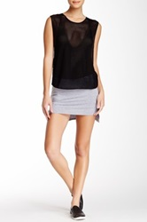 Riller And Fount Ruby Attached Short Slit Side Skirt Gray