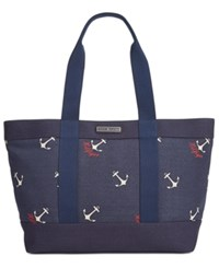 Tommy Hilfiger Daphne Sophie Anchor Canvas Tote Navy Multi