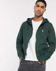 Original Penguin Zip Up Hoodie In Green